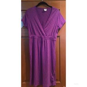 Title Nine Matahari Dress V Neck Orchid Purple LG